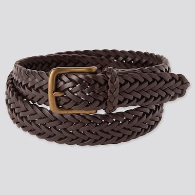 Men Leather Mesh Belt