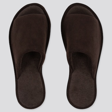Open Toe Corduroy Slippers