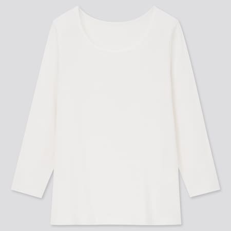 Kids Warm Cotton Stretch Scoop Neck Long Sleeved T-Shirt