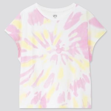 Women Mickey Aloha Ut (Short-Sleeve Graphic T-Shirt), White, Medium