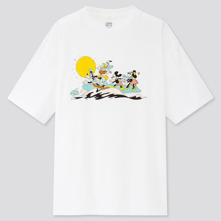 Women Mickey Aloha Ut (Short-Sleeve Graphic T-Shirt), White, Large