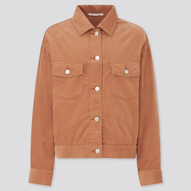 Women Corduroy Relaxed Jacket