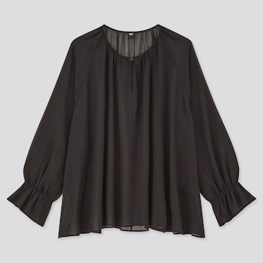 Women Chiffon 3/4 Sleeved Blouse