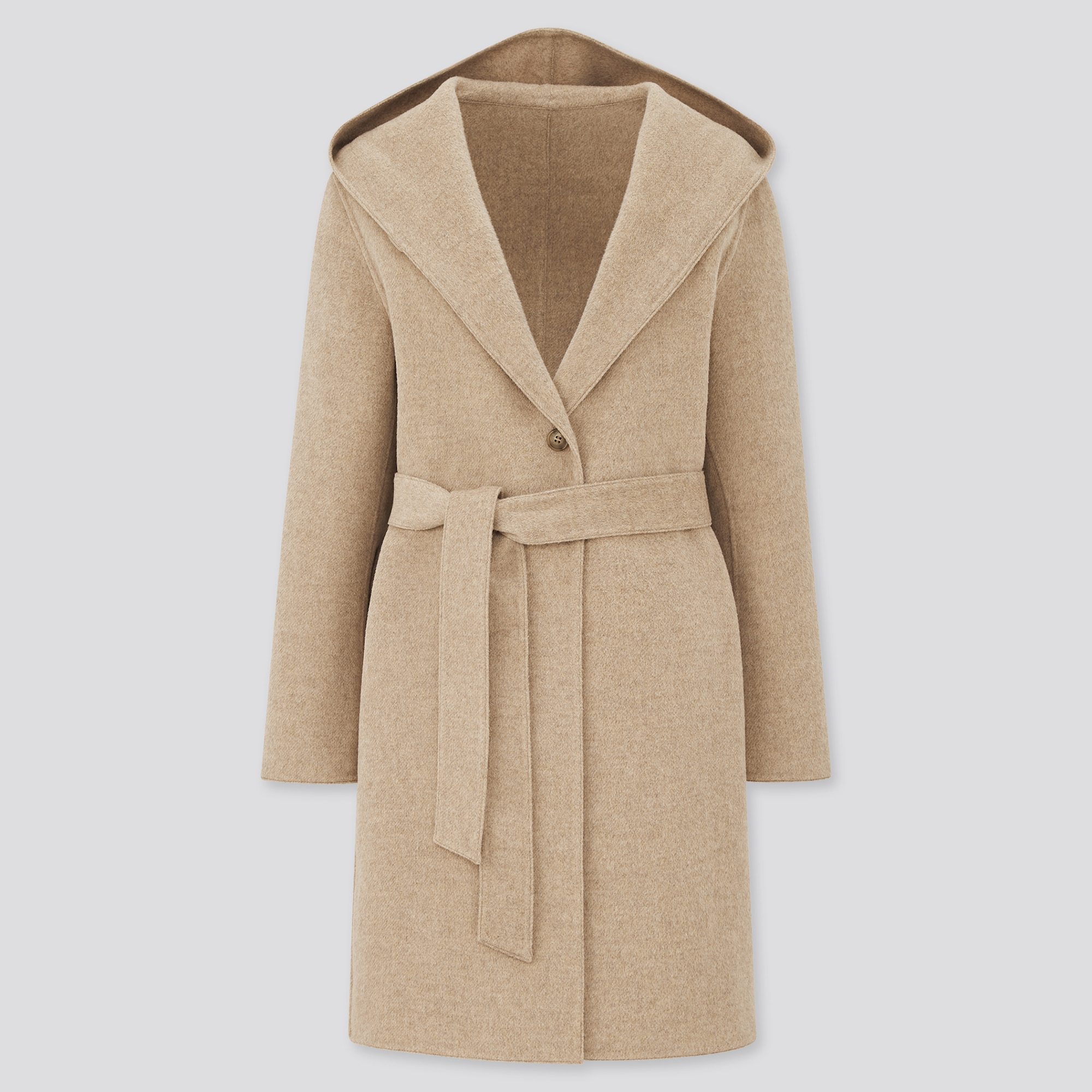women double-faced hooded coat מעיל נשים