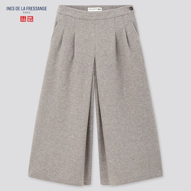 Women Brushed Jersey Culottes (Ines De La Fressange), Light Gray, Medium