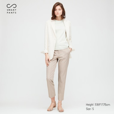 Women EZY Two-Way Stretch Ankle Length Trousers