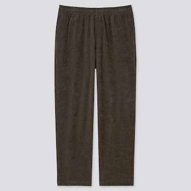 Men Corduroy Jersey Relaxed Fit Ankle Length Trousers