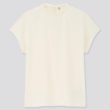 Women Crepe Jersey Crew Neck Short Sleeved T-Shirt