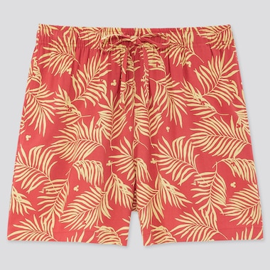 Women Mickey Aloha Relaco Shorts, Red, Medium