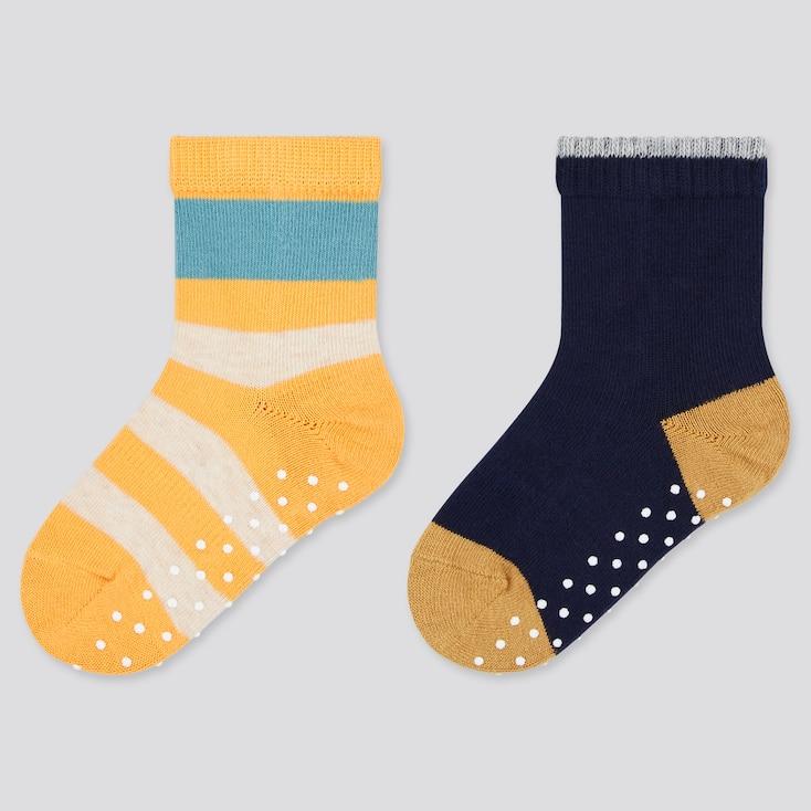 Baby Socks (2 Pairs), Yellow, Large