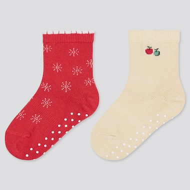 Baby Socks (2 Pairs), Red, Medium