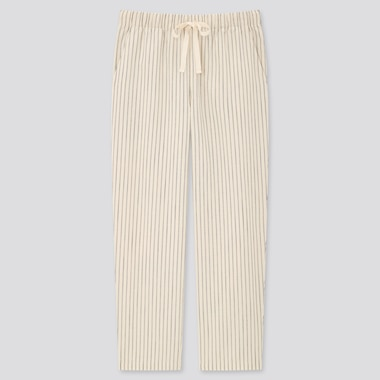 Women Relaxed Fit Striped Ankle Length Trousers