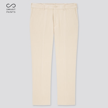 Men Smart 2-Way Stretch Corduroy Ankle-Length Pants (Tall) (Online Exclusive), Off White, Medium