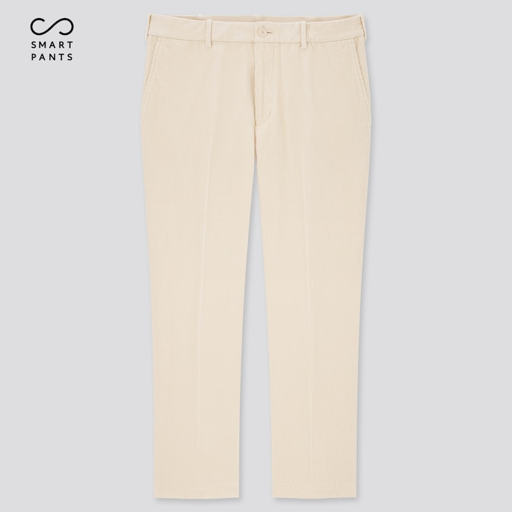 Men Smart 2-Way Stretch Corduroy Ankle-Length Pants (Tall) (Online Exclusive), Off White, Large