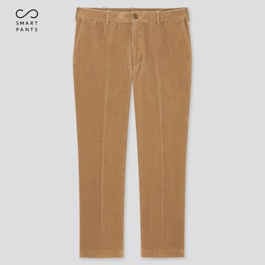 Men Smart 2-Way Stretch Corduroy Ankle-Length Pants (Tall) (Online Exclusive), Beige, Medium