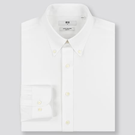 MEN Super Non-Iron Slim Fit Long Sleeved Shirt