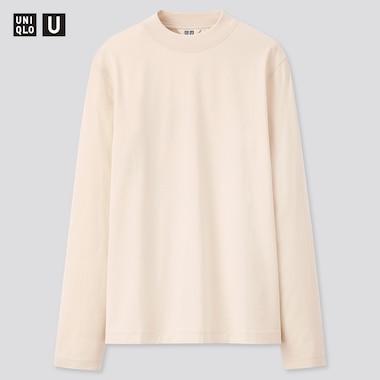 Damen UNIQLO U Langarmshirt aus merzerisierter Baumwolle mit Stehkragen