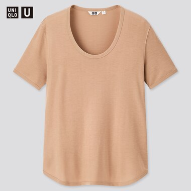 T-Shirt Uniqlo U Encolure Large Femme