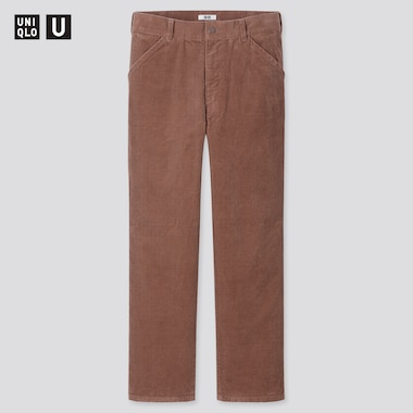 Men Uniqlo U Corduroy Regular Fit Straight Leg Trousers