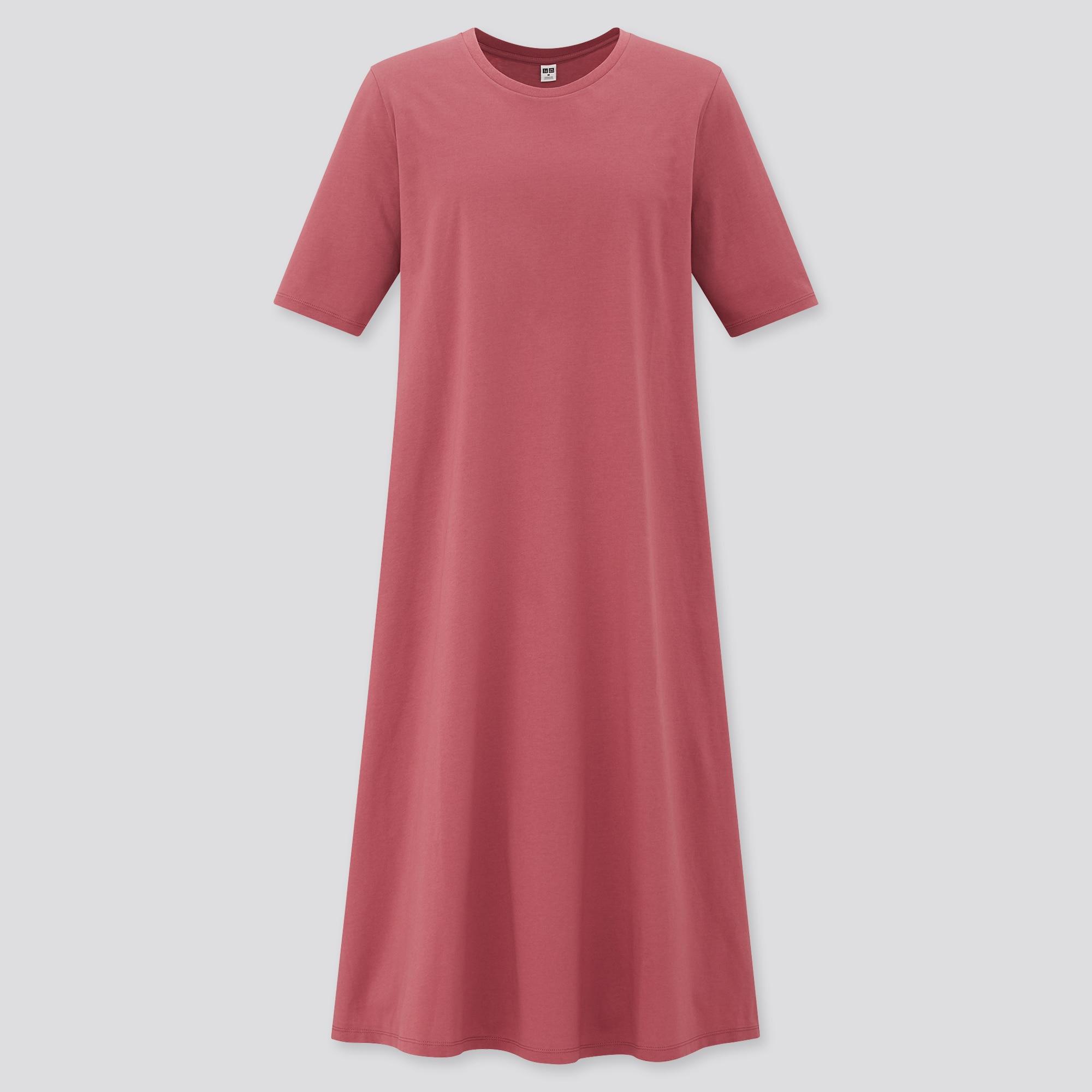 Women Mercerised Cotton Half Sleeved A Line Dress | UNIQLO