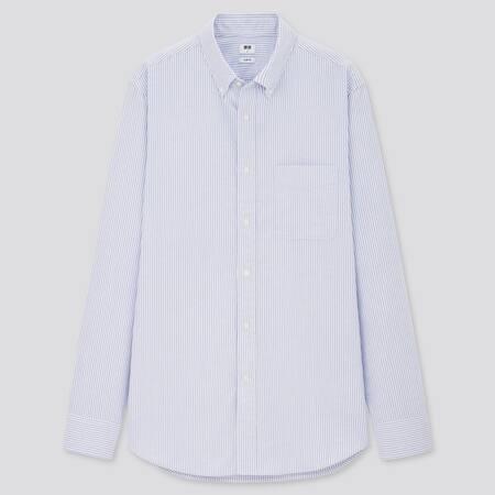 Camicia Oxford A Righe Slim Uomo