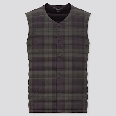 Men Ultra Light Down Pattern Printed Compact Vest