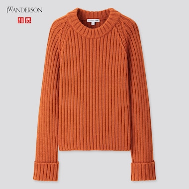 Women JW ANDERSON Cropped Crew Neck Jumper