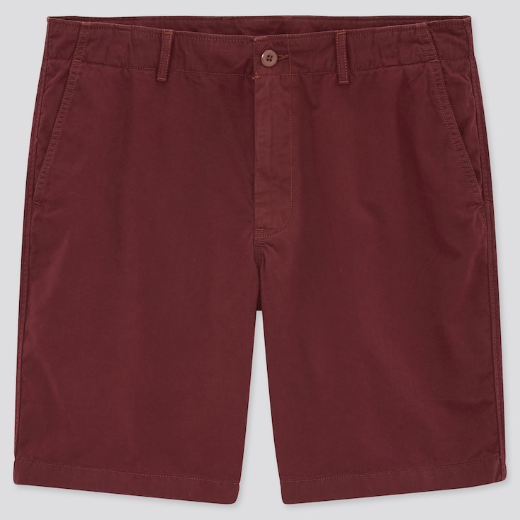 Men Chino Shorts (Online Exclusive), Red, Large