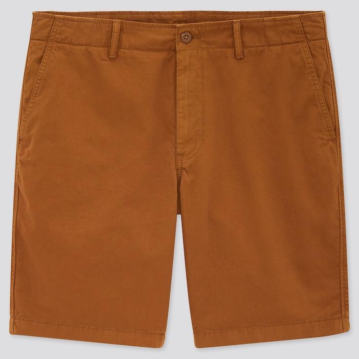 Men Chino Shorts (Online Exclusive), Orange, Large