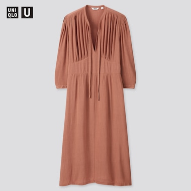 Robe Viscose Manches 3/4 Uniqlo U Femme
