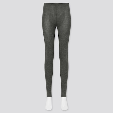 Women Heattech Cable Knitted Leggings (Online Exclusive), Dark Gray, Medium