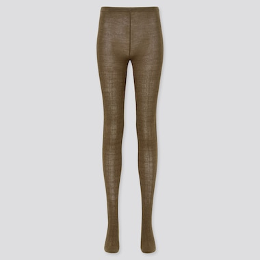 Women HEATTECH Cable Knit Thermal Tights