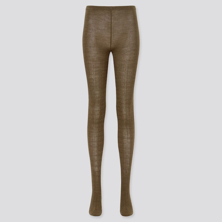 women HEATTECH cable knitted tights (online exclusive)