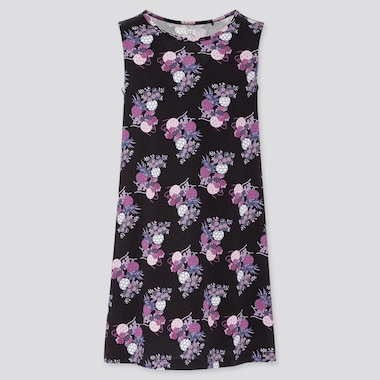 Girls The Tale Of Genji Sleeveless Dress (Online Exclusive), Black, Medium