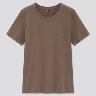 Women Supima Cotton Crew Neck Short Sleeved T-Shirt