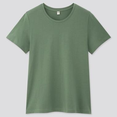 Women 100% Supima Cotton Crew Neck Short Sleeved T-Shirt