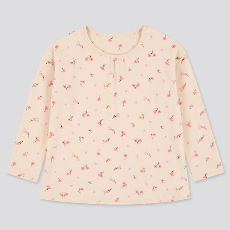 Toddler Joy Of Print Crew Neck Long-Sleeve T-Shirt, Natural, Large
