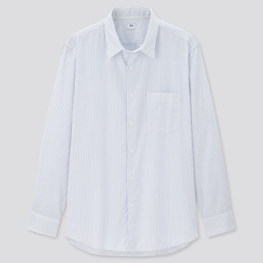 Men Extra Fine Cotton Broadcloth Striped Long Sleeved Shirt