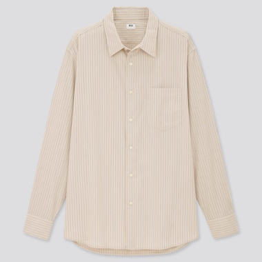 Extra Fine Cotton Broadcloth Regular Fit Striped Shirt (Regular Collar)