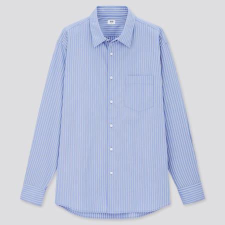 Extra Fine Cotton Broadcloth Regular Fit Striped Shirt (Regular Collar)