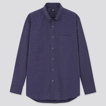 Extra Fine Cotton Broadcloth Regular Fit Dotted Shirt (Button-Down Collar)