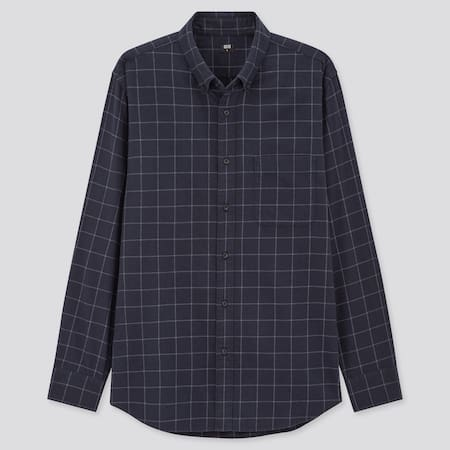 Men Flannel Regular Fit Checked Shirt (Button-Down Collar)