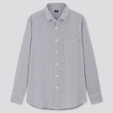 Men Flannel Regular Fit Checked Shirt (Semi-Cutaway Collar)