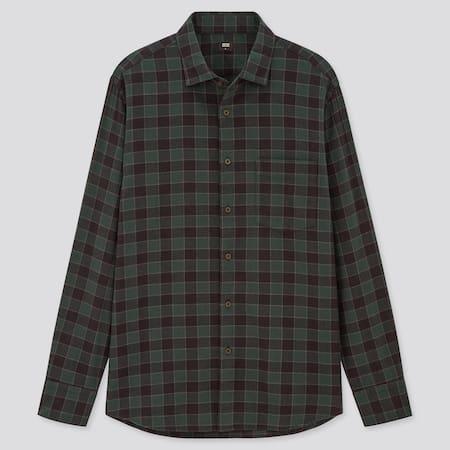 Men Flannel Regular Fit Checked Shirt (Regular Collar)