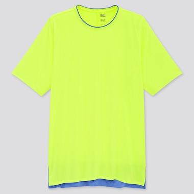 Men UNIQLO+ DRY-EX Crew Neck Short Sleeved T-Shirt