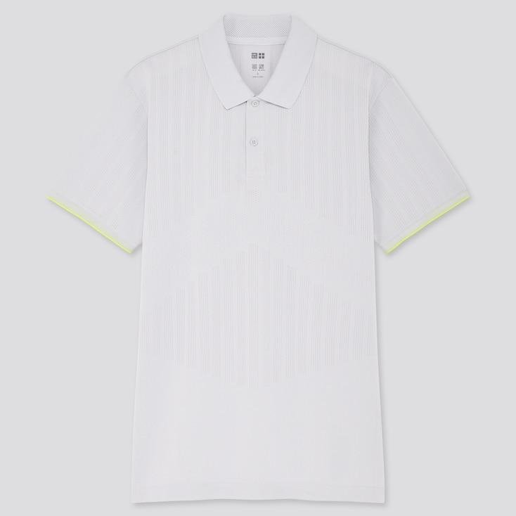 Men Uniqlo+ Dry-Ex Polo Shirt, Light Gray, Large