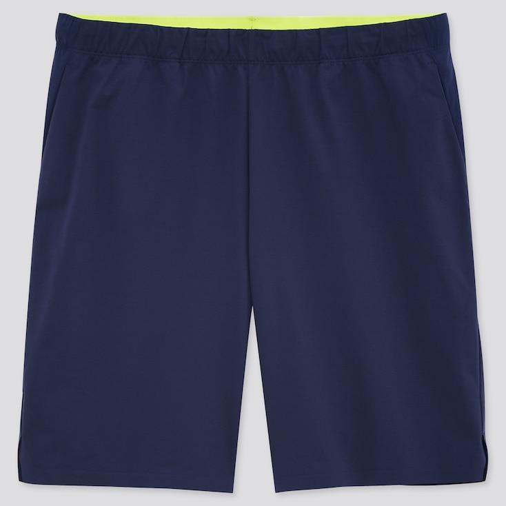 Men Uniqlo+ Ultra Stretch Active Shorts, Navy, Large