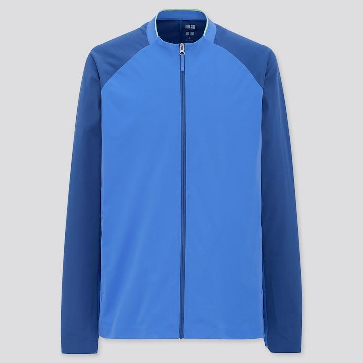 Men Uniqlo+ Ultra Stretch Active Jacket, Blue, Large