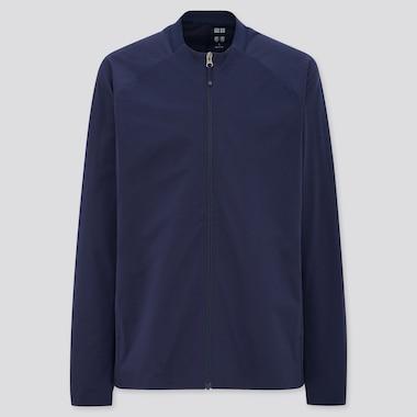 Men Uniqlo+ Ultra Stretch Active Jacket, Navy, Medium