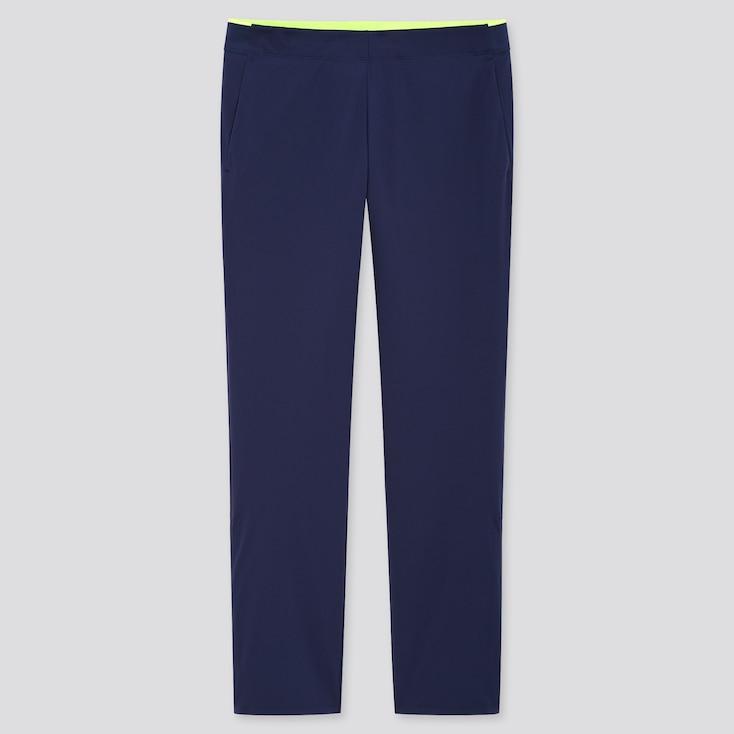 Men Uniqlo+ Ultra Stretch Active Pants, Navy, Large
